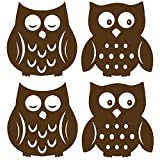 WallPops WPSI0842 WPSI0842 Owl Silhouettes Espresso Brown Wall Decals