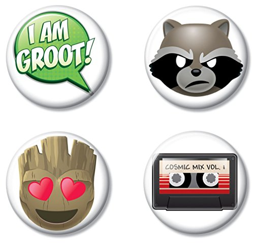 Ata-Boy Marvel Comics Guardians of the Galaxy Emojis Assortment #2 Set of 4 1.25