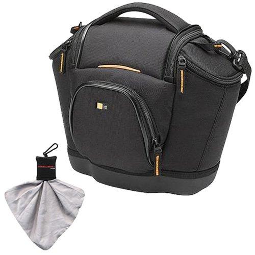 Case Logic Digital SLR Medium Shoulder Camera Bag/Case (Black) (SLRC-202) for Canon EOS 7D, 5D Mark II III, 60D, Rebel T3, T3i, T2i Digital SLR Cameras