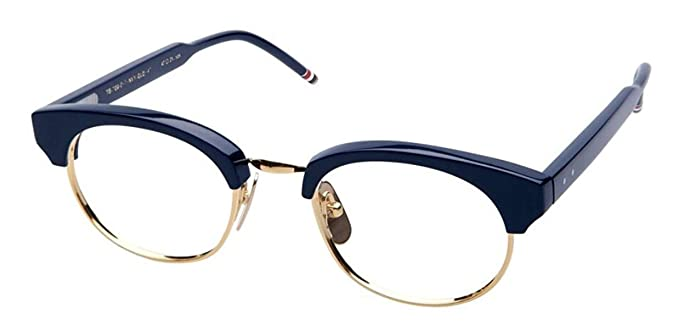 b6164886aea0 Amazon.com  THOM BROWNE TB-702-D-NVY-GLD Eyeglasses Navy Gold w Demo ...