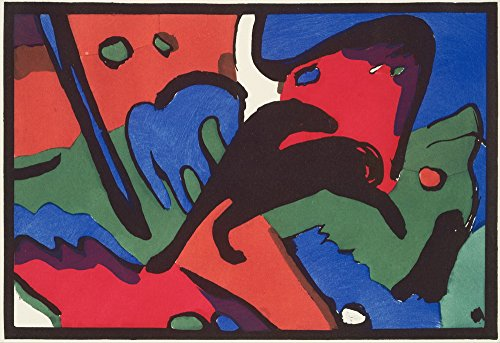 Wassily Kandinsky Giclee Canvas Print Paintings Poster Reproduction (The Blue Rider) - Wassily Kandinsky The Blue Rider