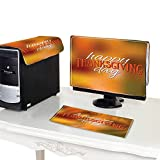 Miki Da Computer dust Cover 19''MonitorSet Happy Thanksgiving Day Logotype and icon on