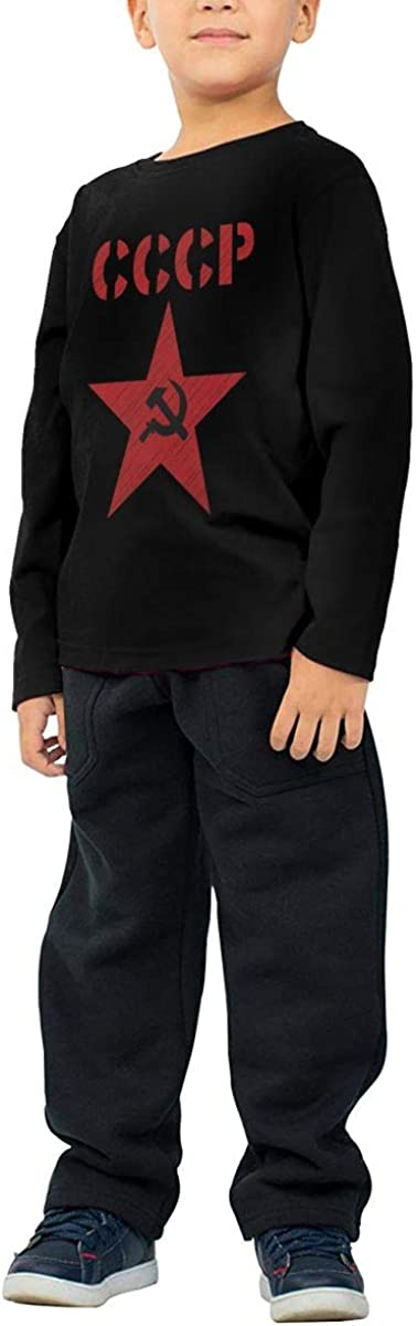 Flag Soviet Union Childrens Long Sleeve T-Shirt Boys Cotton Tee Tops