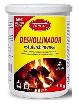 Tamar - Deshollinador Especial Estufas / Chimeneas Envase de 1 Kg: Amazon.es: Jardín