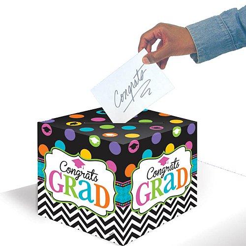 Black Open House Card - Dream Big Graduation Card Holder Box