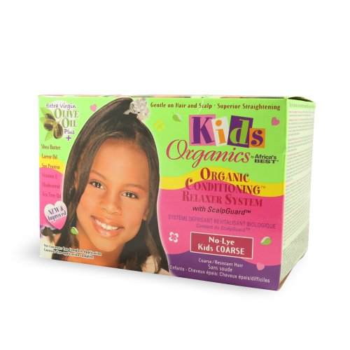 (Africa's Best Kids Organics No-lye Conditioning Relaxer System with Scalpguard for Coarse/Resistant Hair)
