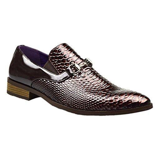 7 o 11 10 6 inglese formale color fibbia marrone stile da di numero 9 8 uomo Scarpe con Brown informale Uqxw6zf1