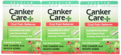 Quantum Health, Canker Care + Liquid Gel, .33 Ounces (Pack of (0.33 Ounce Canker Care)