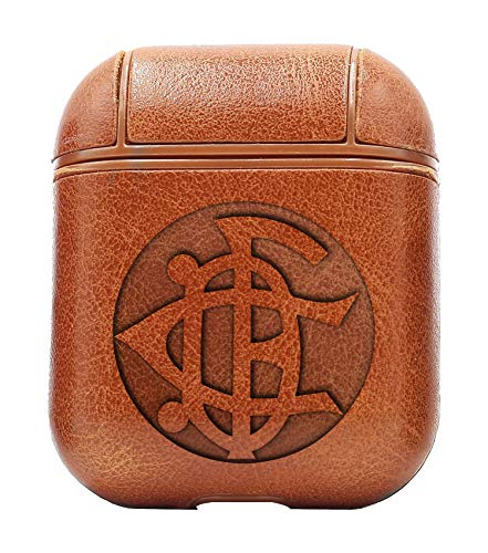 Logo CD Fortuna San Sebastian (Vintage Brown) Air Pods Protective Leather Case Cover - a New Class of Luxury to Your AirPods - Premium PU Leather and Handmade exquisitely by -