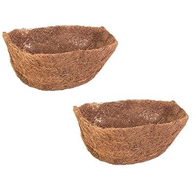 "Panacea 88597 22"" D Half Round Wall Basket Coco Liners - Quantity 2: Garden & Outdoor"