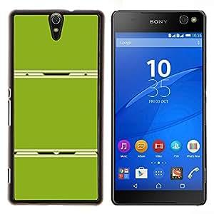 YiPhone /// Prima de resorte delgada de la cubierta del caso de Shell Armor - Resumen de plástico Líneas minimalistas - Sony Xperia C5 Ultra