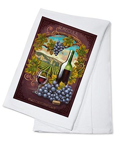 (Temecula, California - Merlot Wine Scene (100% Cotton Kitchen Towel))