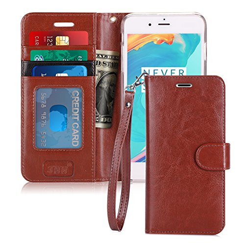 FYY Case for iPhone 6S Plus/iPhone 6 Plus, [Kickstand Feature] Flip Folio Leather Wallet Case with ID and Credit Card Pockets for Apple iPhone 6/6S Plus (5.5) Dark Brown