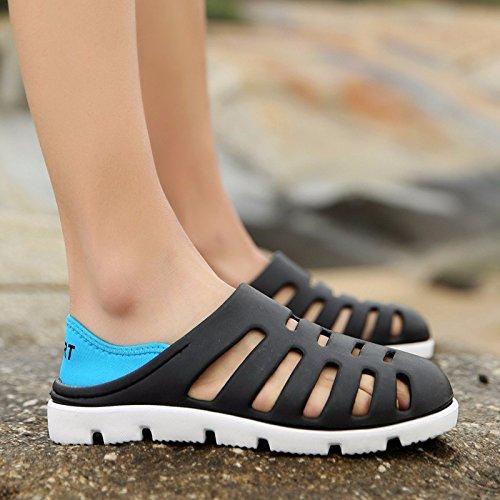 Il nuovo estate Spiaggia scarpa Uomini traspirante Cavo Ultraleggero Uomini sandali Buco scarpa ,nero,US=9.5,UK=9,EU=43 1/3,CN=45