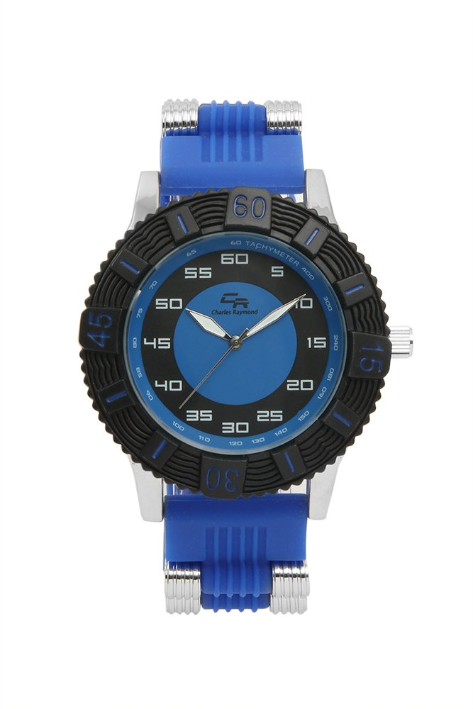 Summer Fun Sporty Diver Look Unisex Rubber Band Watch -1020 Royal Blue