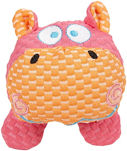 Patchwork Pet TuffPuff Pet Toy, Hippo Head, 6-Inch