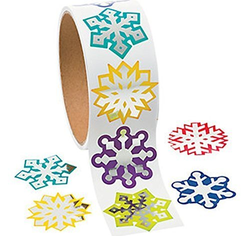Foil Snowflake Stickers - Scrapbook Crafts Christmas Snowflake Stickers (1)