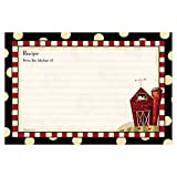 Brownlow Kitchen 48523 Fresh is Good Gifts Recipe Cards, Black