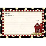 """Brownlow Gifts 4"""" x 6"""" Lined Recipe Cards, Fresh is Good Gifts, 36-Count"""