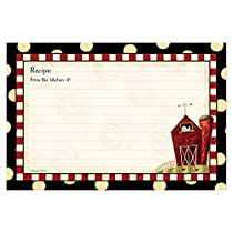"""Brownlow Kitchen 4"""" x 6"""" Recipe Cards, Fresh is Good Gifts"""
