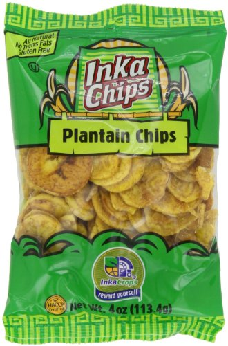 Inka Crops Inka Chips Roasted Plantain Chips 4 Ounce Bags Pack of 5