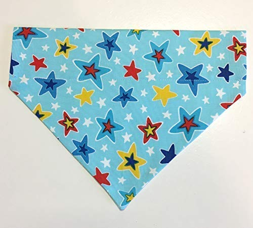 (Dog Collar Bandana Crazy Stars Large)
