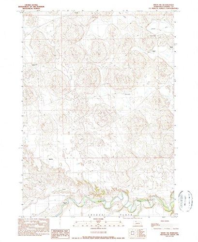 YellowMaps Irwin SW NE topo map, 1:24000 Scale, 7.5 X 7.5 Minute, Historical, 1990, Updated 1990, 26.9 x 22 in - Tyvek
