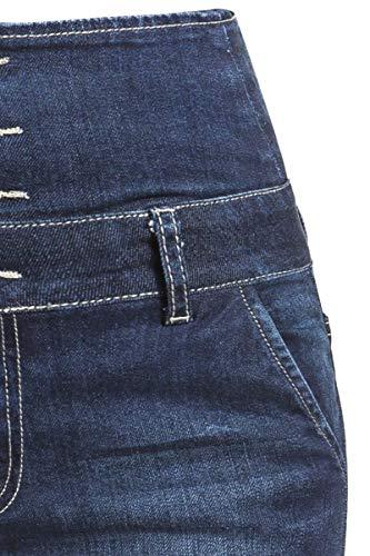 Azul Alta Cintura Jeans Denim Tejanos Forplay Oscuro qOvzW