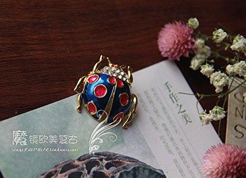 Fine enamel brooch pin cute little ladybug