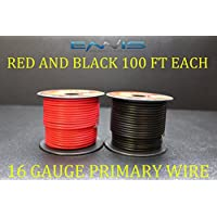 16 GAUGE WIRE ENNIS ELECTRONICS 100 FT RED 100 FT BLACK PRIMARY REMOTE HOOK UP AWG COPPER CLAD