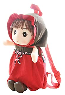 Cute Childrens Backpack For School Toddle Backpack Baby Bag, Red Black Temptation