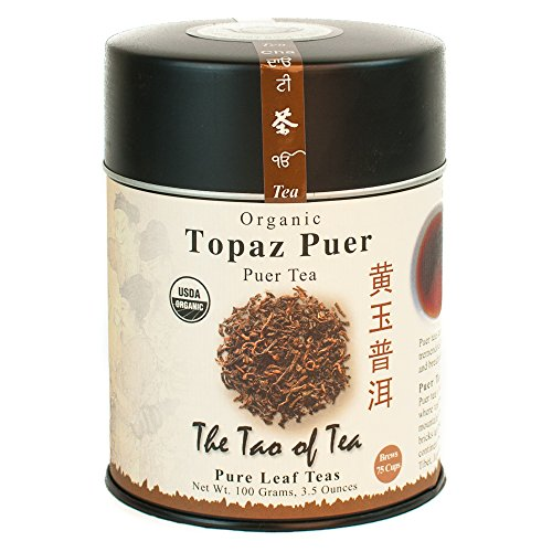 The Tao of Tea, Topaz Puer Pu-er Tea, Loose Leaf, 3.5 Ounce Tin