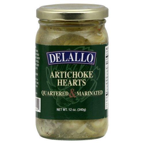 Delallo Quartered and Marinated Artichoke Hearts, 12 Ounce -- 12 per case. by DeLallo ()