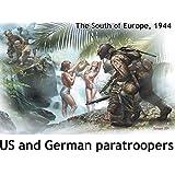 マスターボックス 1/35 米独・降下兵各2体南欧1944-沐浴中女性2体付 プラモデル