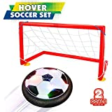 Betheaces Kids Toys Hover Soccer Ball Set with 2 Goals Gift Football Disk Toy with LED Light for Boys Girls Age of 2, 3, 4,5,6,7,8-16 Year Old, Indoor Outdoor Sports Ball Game for Children