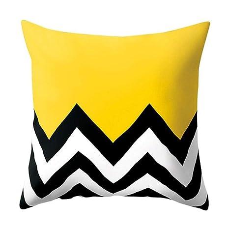 Colores brillantes de poliéster Almohada geométrica del ...