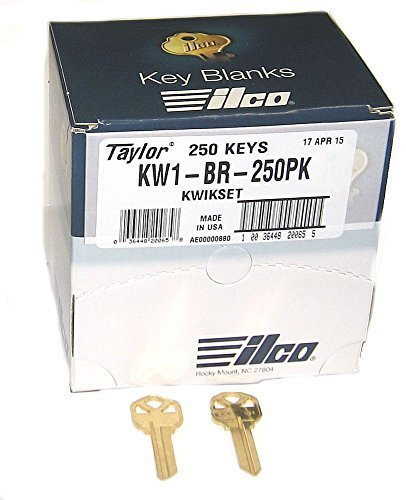 Kwikset Lock Key Blank - KWIKSET KW1 BRASS KEY BLANK *250 PACK* by Kaba Ilco
