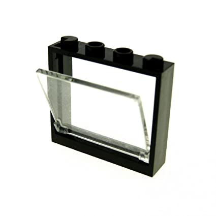 LEGO New Black 1x4x3 Creator House Window with Opening Glass