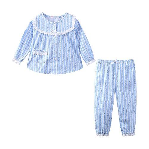 Mud Kingdom Boutique Toddler Girl Pajamas Set Lace Long Sleeve 4T -