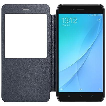 5bee7e7b890 Newlike Flip Cover for Mi A1 - Black  Amazon.in  Electronics