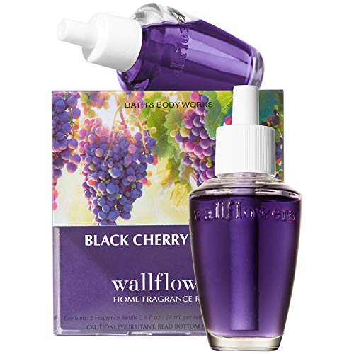 - Bath and Body Works New Look! Black Cherry Merlot Wallflowers 2-Pack Refills