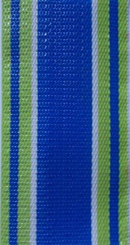 WebbingPro(TM) Green Multi Stripe Lawn Chair Webbing 2 1/4 Inch Wide 100 Feet Long Roll