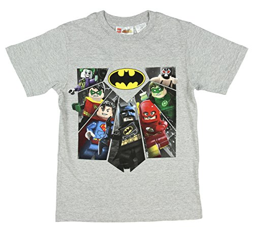 Lego DC Comics Super Heroes Joker Robin Superman Batman Flash Green Lantern Character Boys Shirt (2XL 18)