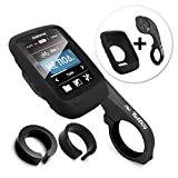 Tuff-Luv 3 in 1 Combo Silicone Gel Skin Case and Screen Cover for Garmin Edge Touring 800 / 810 / Touring with Out-Front Handlebar Mount - Black