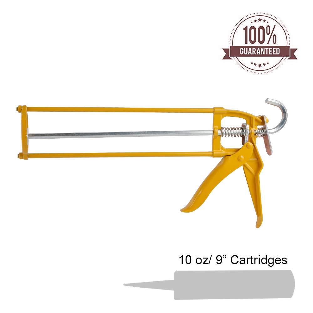 BIDE Professional Caulk Gun 10oz Tube Portable Frame Caulking Tool Cartridge 310ml Contractor