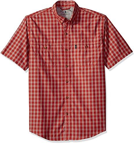 Explorer Mens (G.H. Bass & Co. Men's Explorer Fancy Short Sleeve Plaid Shirt, Rich Baked Apple, X-Large)