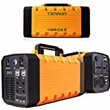288WH UPS Power Inverter Generator Backup Battery , Uninterrupted Power Supply 26000mah Solar Power Source for Outdoor Indoor Charged by Solar/AC Outlet/Car with 3AC & 4DC 12V & 4USB Port