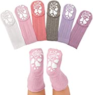 Anole Newborn & Infant Baby Socks - 6 Pairs - Cozy Warm Winter Socks - Knee High Girls Cable Knit Stock