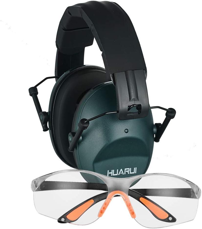 Shooting Ear & Eye Protection Gun Safety Glasses Hearing Protective Combo…
