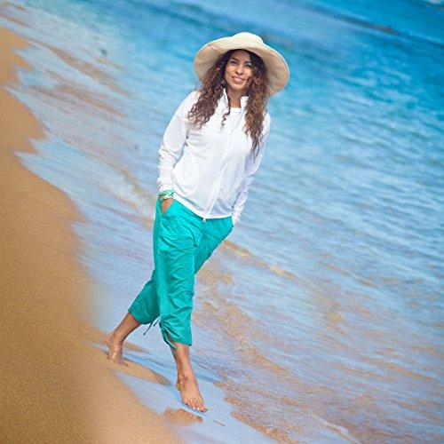 UV SKINZ UPF50+ Womens Water Jacket-White-M